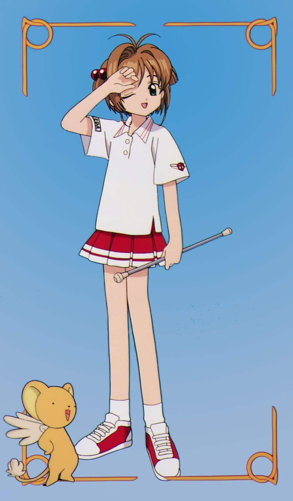 sakura kinomoto uniforme deportivo tomoeda