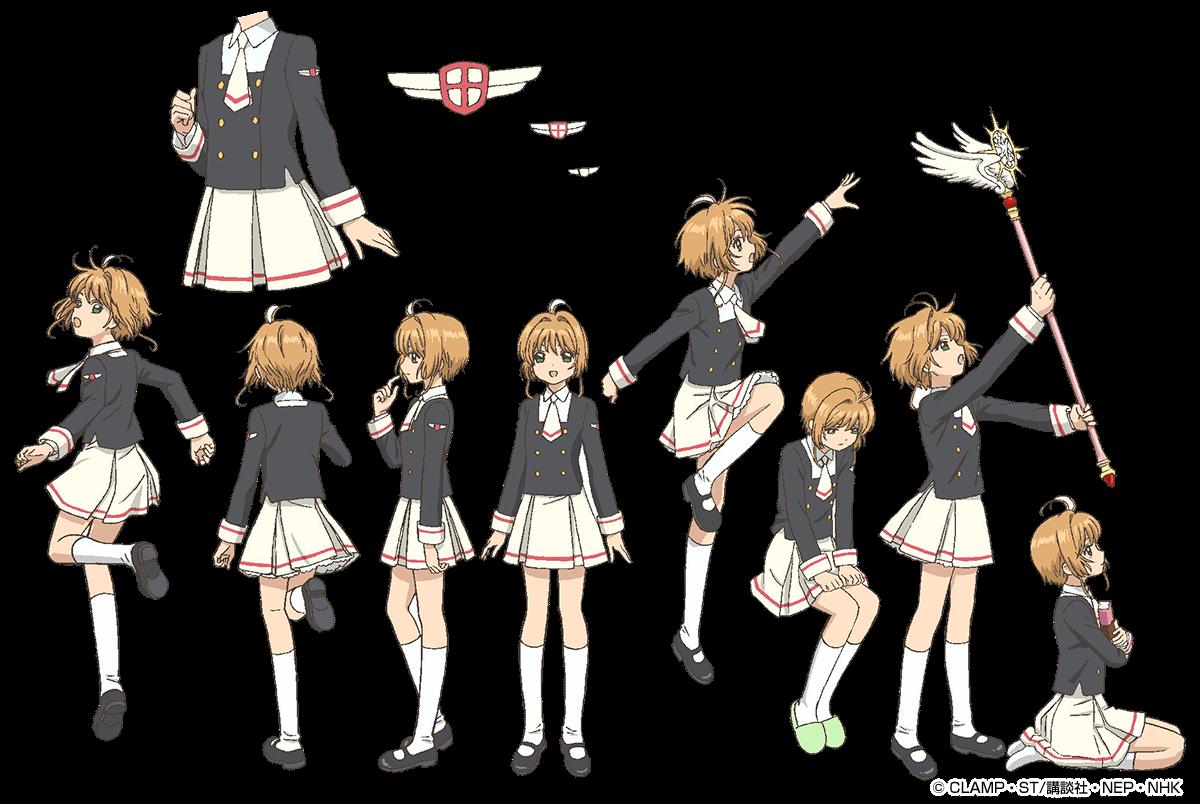 Artwork uniforme sakura kinomoto secundaria tomoeda