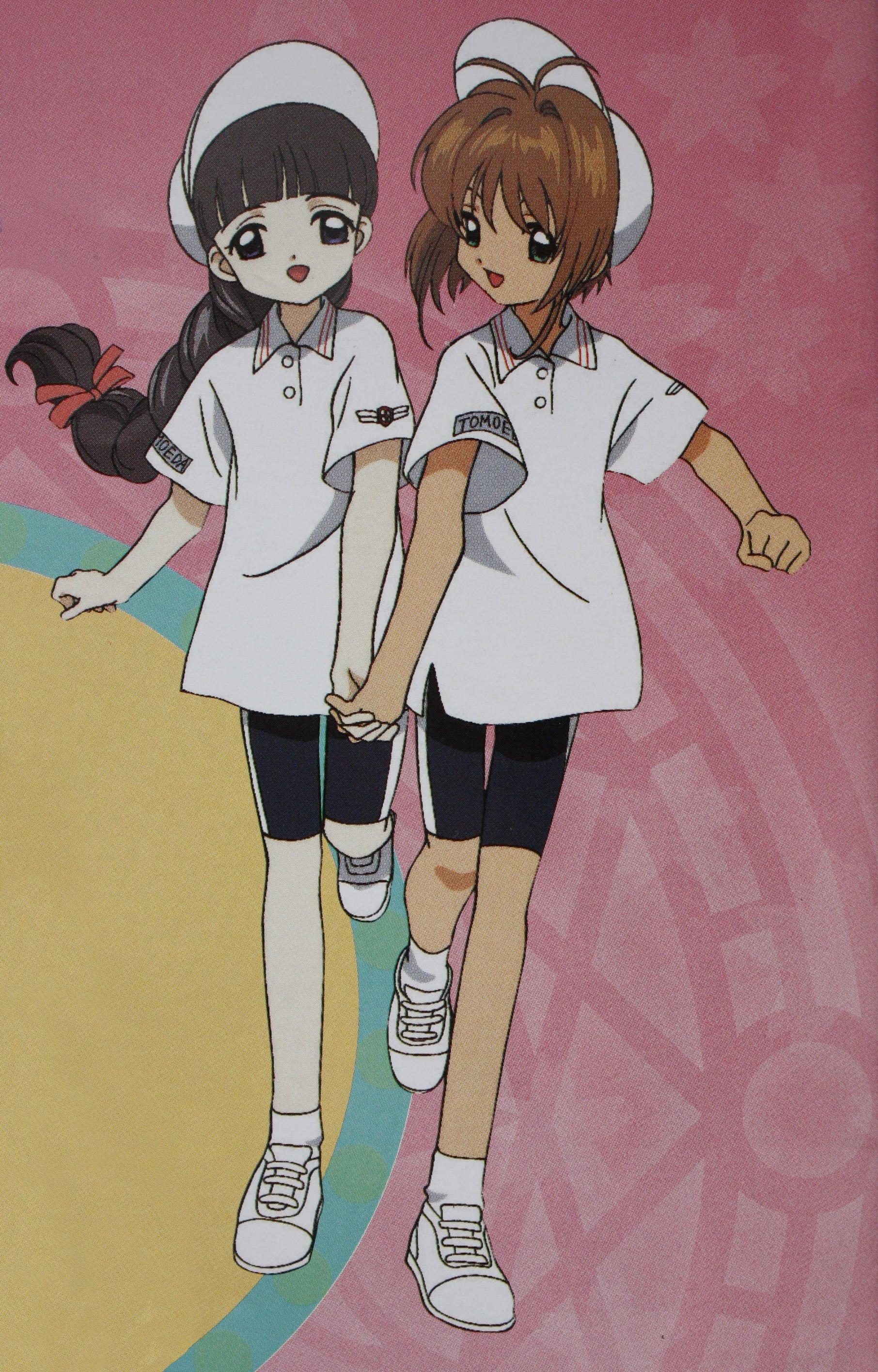 sakura y tomoyo uniforme de maraton